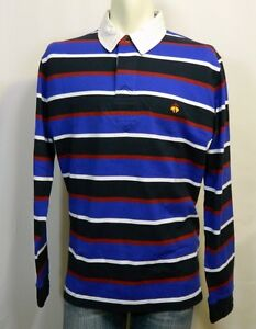 cdfcf4d15a BROOKS BROTHERS, L/S RUGBY, BLACK, BLUE, RED & WHITE STRIPES W/ LOGO ...
