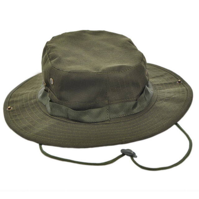 1 Army Green HOTSELL! Military Wide Brim Hunting Mountaineer Camping Boonie Hat