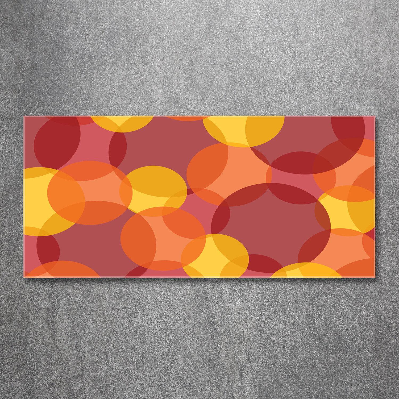 Glas-Bild Wandbilder Druck auf Glas 120x60 Deko Kunst Farbige Kreise