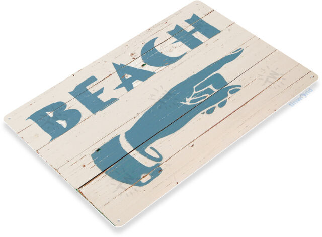 TIN SIGN Stress Free Zone Cabin Cottage Beach House Rustic Metal Décor C053