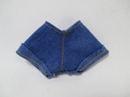 Handcrafted clothing pants shorts for Blythe Basaak doll # blue jeans-1