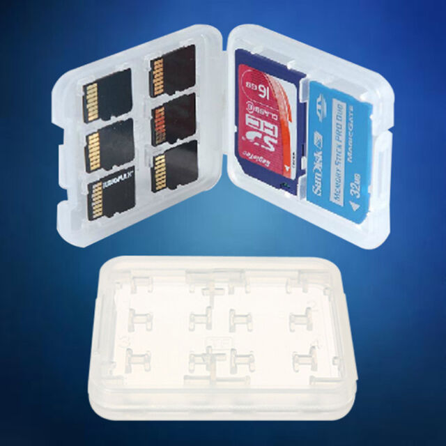 8 in1 Hard Micro SD SDHC TF MS Memory Card Storage Box Protector Case Gift New