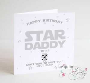 Details About STAR WARS DADDY TO BE Birthday Card