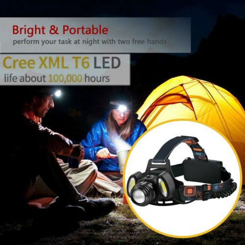 Rechargeable LED 3 Cree head Torch Headlamp Fishing Headlight  Super Bright