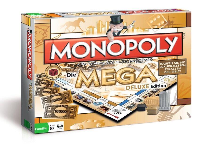 Originale Monopoly Mega Deluxe Edition Lusso Gioco da Tavola di Società