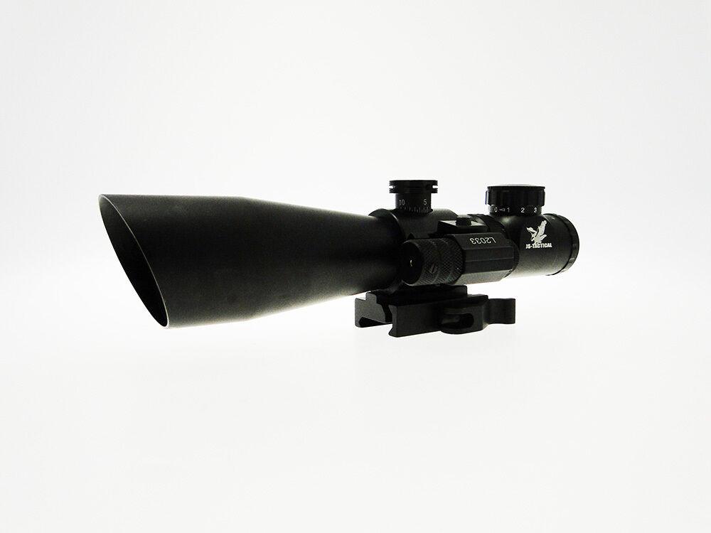Ottica JS-Tactical 3-9 x 42 CON LASER  e reticolo illuminato  preferential