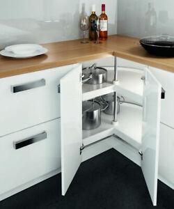 3/4 Kitchen Corner Carousel Storage Unit 800mm L Shape ...