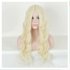 Alice in Wonderland White Queen Curly Wave Blonde Cosplay Wigs + a Wig Cap