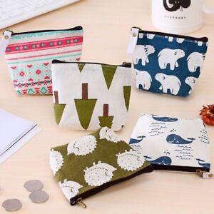 Women-Small-Canvas-Purse-Zip-Wallet-Coin-Case-Bag-Handbag-Key-Holder-Wallet-Gift