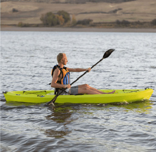 Youth Kayak Paddle Included Yellow Kids Outdoor Sports Sit On Top Durable