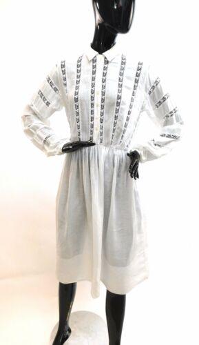 Vintage 1950s eyelet lace cotton dress