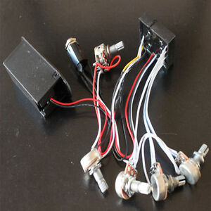 3 band eq preamp circuit bass guitar wiring harness for active bass pickup l016 ebay. Black Bedroom Furniture Sets. Home Design Ideas
