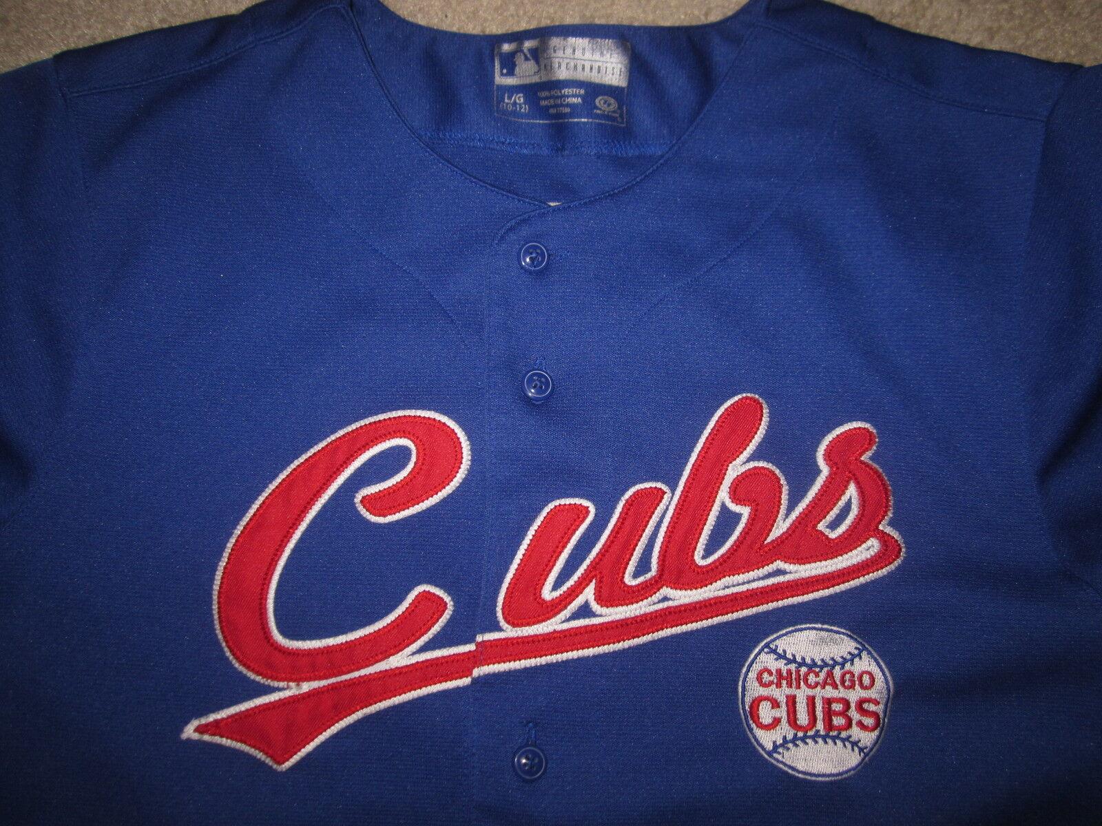 Alphonso Juzgado Cubs  12 Chicago Cubs Juzgado MAGLIA adolescenti LARGE L 10-12 5e7663