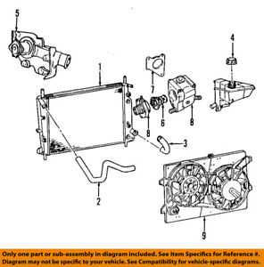 New Genuine Ford Engine Coolant Thermostat Assembly OE XR3Z8575BA