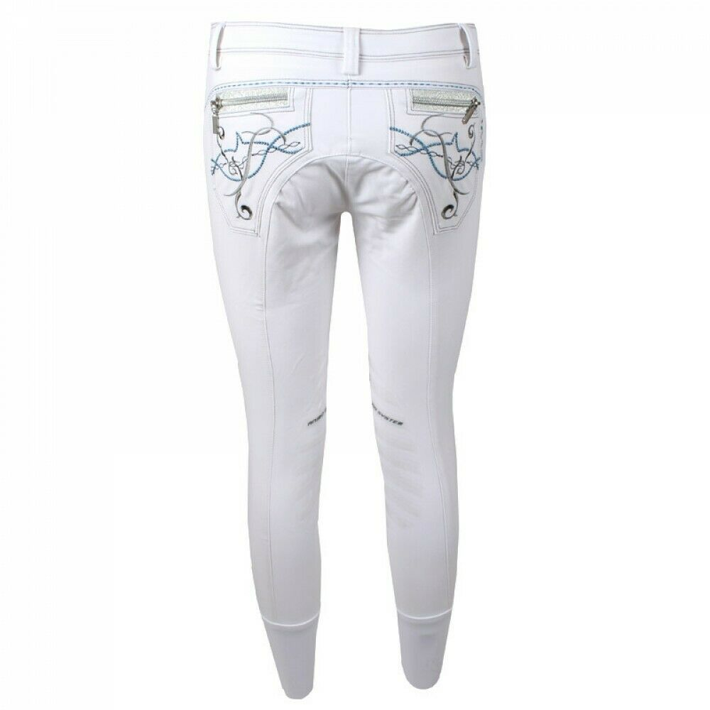 Animo Nellaria silicone knee grip competition show breeches white I 44