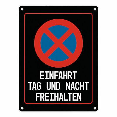 Schild Halteverbot Einfahrt Tag und Nacht freihalten Schild Widerrechtlich abges