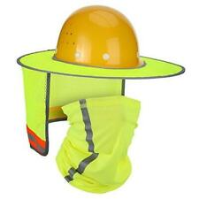 2 Pieces Hard Hat Sun Shade Neck Protection High Visibility Sun Neck Yellow