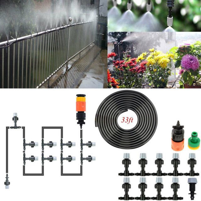 Water Misting System Agricultural Fan Cooler Patio Mist Garden Nozzles