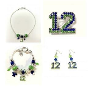 Seattle Believe Football Fan Women's Jewelry Necklace, Bracelet, Pin or Earrings