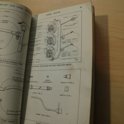 CAT Caterpillar D318 Diesel Electric Set Engine Parts Manual Book Catalog list