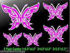 Combo 5-Butterflies Decals for Truck/Car/Galss/Laptop/Helmet,Ipad,Iphone sticker