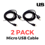TWIN-PACK-Premium-Micro-USB-Cable-2m-Charge-amp-Sync-for-Android