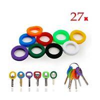 Interus Key Caps Tags 27 Pcs Silicone Key Cap Sleeve Rings Key ... Free Shipping