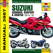 suzuki gsx600 750f and gsx750 service and repair manual 1998 2002 rh ebay co uk suzuki gsxf 750 service manual suzuki gsx 750 f manual download