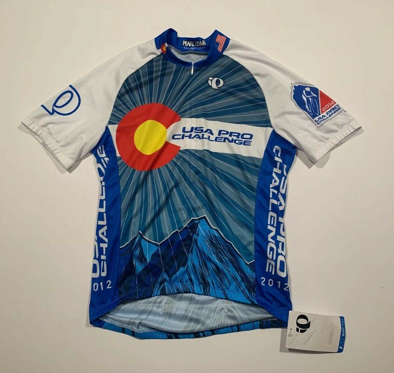 New PEARL IZUMI Small Cycle Bike Jersey colorado Short Sleeve USA Pro Challenge