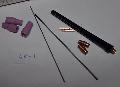 TIG accessory kit, 10 pieces (AK-1) for 9 or 20 torches (13N)