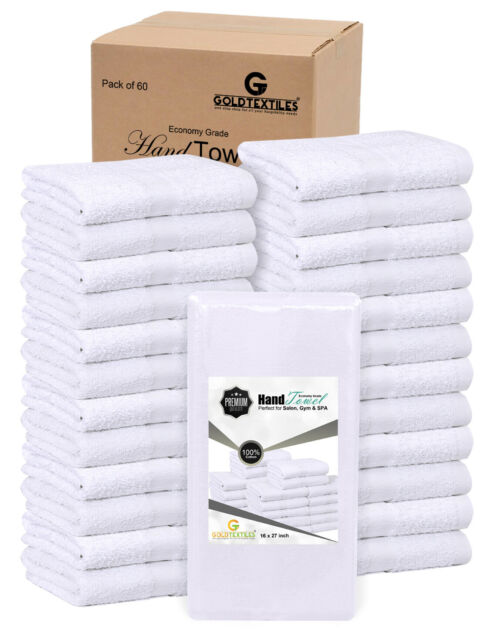 24 new white cotton salon hand towel hair cut barber 15x25