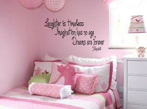 Merveilleux Image Is Loading TINKERBELL QUOTE Vinyl Wall Decal Words Lettering Quote
