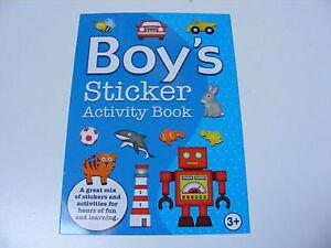 Infantil-Infantil-Boys-Pegatinas-Libro-De-Actividades-pad