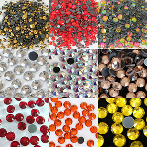 1440pcs-10Gross Czech Crystal Rhinestones Top Quality Flatback CHOOSE COLOR-ss16