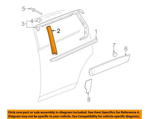 GM OEM Exterior-Rear-Applique Window Trim Left 22760518
