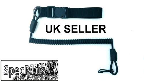 PISTOLA Cordoncino Cinturino Elastico Molla Nera di alta qualità Airsoft armi da fuoco veloce UK