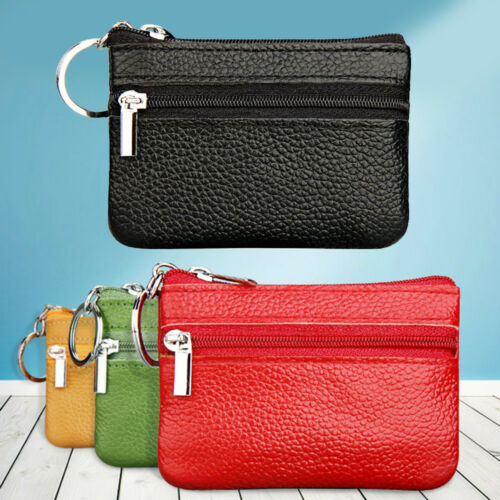 Unisex Leather Mini Coin Change Purse Wallet Clutch Zipper Small Soft Bag 2018 b