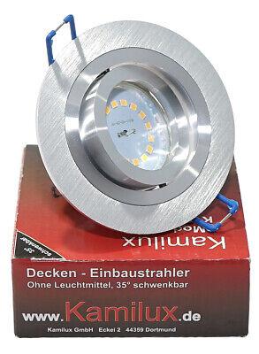 LED Einbau Strahler 35mm flach Decken Leuchten Lampen dimmbar 230V 5W Set Rundi