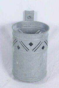 Muelleimer-26x30x40cm-Wand-Papierkorb-Metall-robust-stabil-Industrie-Firma-Grau