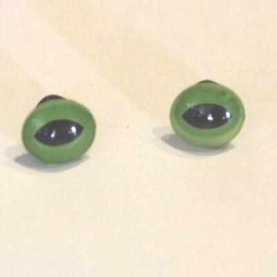2 Stück schwarz ø 8 mm Glasaugen für Tiere