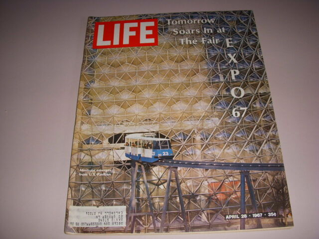 LIFE Magazine, April 28, 1967, WORLDS FAIR IN MONTREAL COVER, WOODY ALLEN!