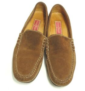 4ce68303b30 COLE HAAN COUNTRY Brown Suede Slip On Low Block Heel Moccasins ...