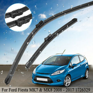 Pair-Of-Front-Window-Windscreen-Wiper-Blades-Fit-Ford-Fiesta-MK7-amp-MK8