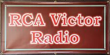 RCA VICTOR RADIO SERVICE RETRO SIGN OLD SCHOOL REMAKE BANNER GARAGE ART 2 X 4