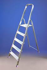 Scala domestica in alluminio  6 gradini (piattaforma a 1,32 m) portata 100kg