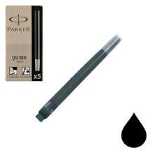 Pk/5 Parker Fountain Pen Ink Cartridges, Permanent Black