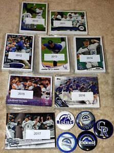 Colorado-ROCKIES-lot-of-9-Topps-team-sets-2018-2017-2016-2015-2014-2013-2010