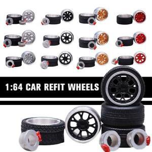 CERCHI-in-lega-scala-1-64-Custom-Hot-Wheels-e-altri-Diecast-Auto-GOMMA-GOMME