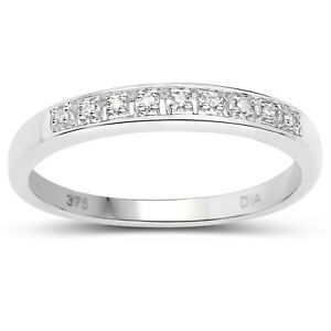 9ct-White-Gold-3mm-Slim-Diamond-Eternity-Ring-Size-HINQRSTUW