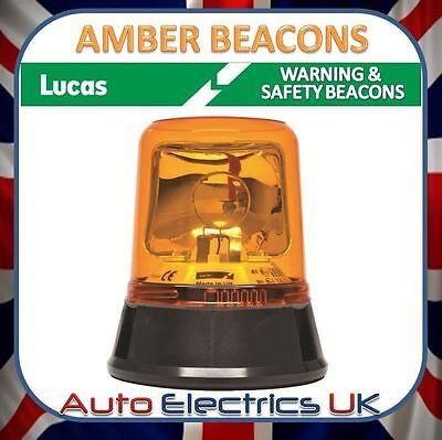 ROTATING HALOGEN BEACON SAFTY WARNING AMBER LAMP LIGHT EURO STYLE LBB760K